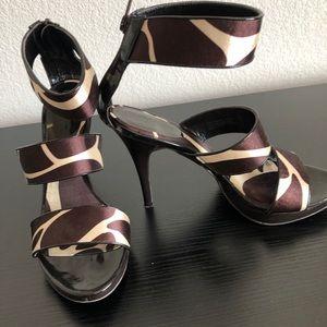 Carlos Brown strappy platform sandals